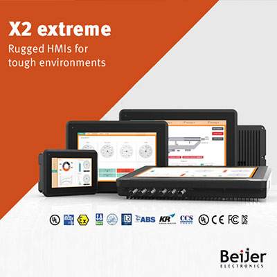 Beijer X2 Extreme: Rugged HMI Panels for Tough Environments