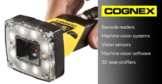 CognexMachine vision sensors & systems*, handheld & fixed mount barcode readers.