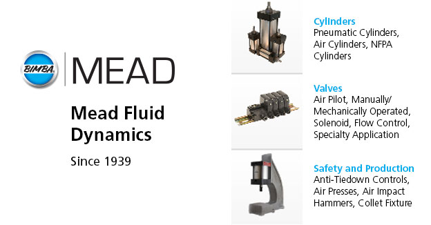 Mead Fluid DynamicsPneumatic cylinders and mechanical valves.