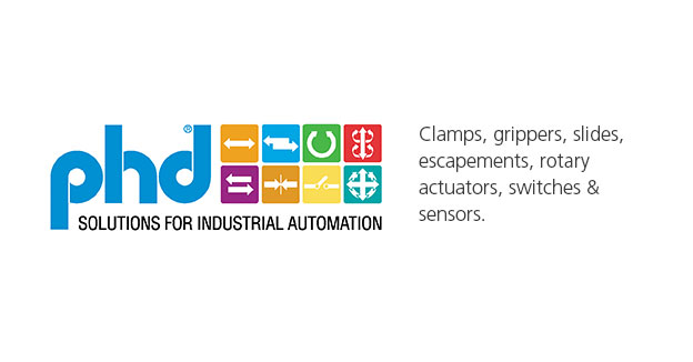 PHD Inc.Clamps, grippers, slides, escapements, rotary actuators, switches & sensors.