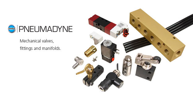 PneumadyneMechanical valves, fittings and manifolds.