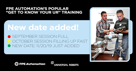 Universal Robots Authorized Training at FPE Automation