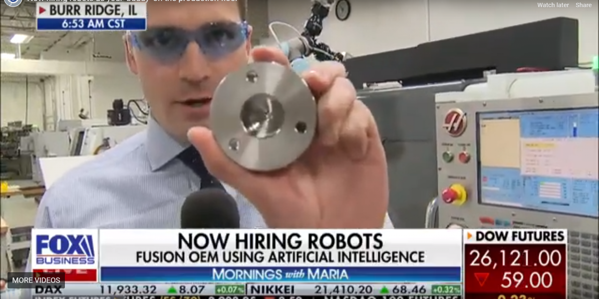Universal Robots and FPE partner Fusion OEM featured on Fox Business