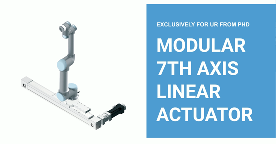A 7th Axis for your Universal Robot, with the New ESU Series Actuator from PHD Inc.