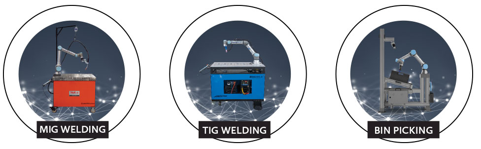 Cobot MIG and TIG Welding and Bin Picking